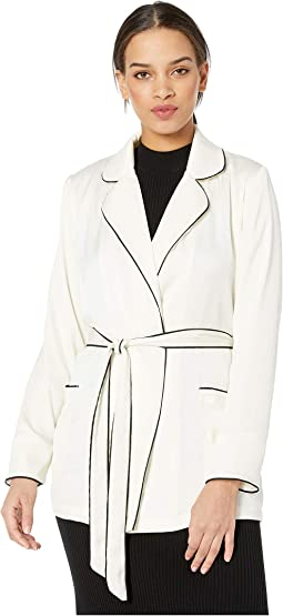 Xander Satin Wrap Jacket