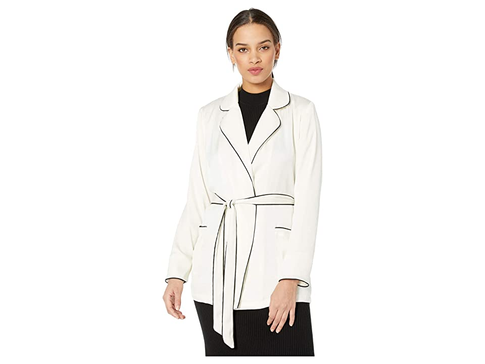 Cupcakes and Cashmere Xander Satin Wrap Jacket (Ivory) Women