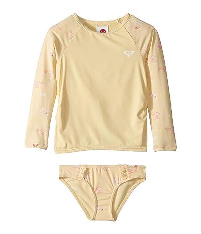Roxy Kids Tropical Getaway Long Sleeve Rashguard Set (Toddler/Little Kids) (Sunlight Deauville) Girl