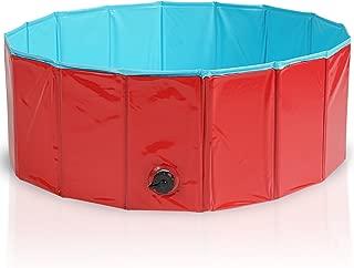 Premium Piscina para Mascotas Plegable 80x30CM - Multifuncional, Portátil, PVC Antideslizante - Bañera para Perros, Perrito, Gatos o como Piscina para Niños, Piscina de Bolas.
