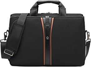 BRINCH Laptop Messenger Bag 15.6-Inch Water Resistant Shoulder Bag Business Briefcase Large Carrying Handbag for Men/Work/Travel/College, Black