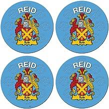I Luv LTD Reid Inglés Apellido Familiar Redondo Cork Backed Portavasos Conjunto de 4