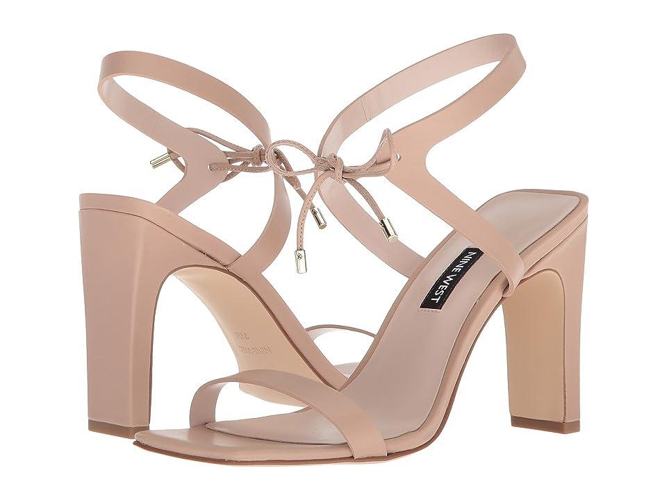 Nine West Longitano Heel Sandal (Light Natural Leather) Women