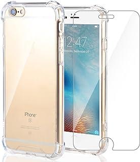 Funda iPhone 6S/iPhone 6 + Cristal Protector de pantalla ,ivencase Transparente TPU Silicona [Funda + Vidrio Templado] Ult...