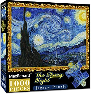 1000-Piece XIECCX Mini Jigsaw Puzzle The Starry Night Unique Home Games for Kids Adult Decompression Toys Leisure Time Easy-Clean Promotes Hand-Eye Coordination