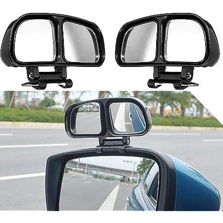 Auto Toter Winkel Spiegel Vision Hilfsspiegel 2-In-1 HD 360 Grad Rotation Verstellbar Selbstklebend Toter Winkel R/ückansicht Spiegel Seitenspiegel Blindspiegel f/ür KFZ SUV PKW LKW Links und Recht
