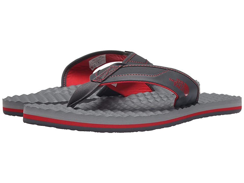 The North Face Base Camp Plus Flip Flop (Dark Shadow Grey/TNF Red) Men