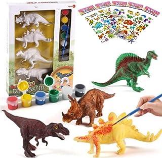 KIDS REPUBLIC Decorate Your Own Dinosaur Figurine,DIY Dinosaur Art Craft 3D Painting, Dinosaur Toy ,DIY Dinosaur Toys Paint.