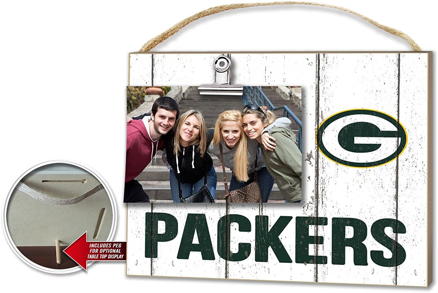 KH Sports NFL Weathered ClipIt Photo Frame  Pick Your Team