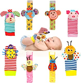 Bloobloomax Baby Einstein Toys Soft Rattle Foot Finder Socks Wrists Rattles Ankle Leg Feet Hand Arm Bracelet Activity Ratt...