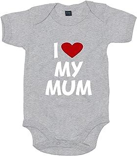 Shirt-Panda Baby Body I Love My Mum Für Jungen Und Mädchen Mit Motiv Spruch in 10 erhältlich