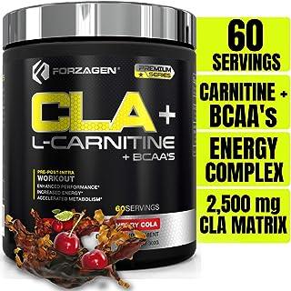 Forzagen Cla + L Carnitine + Bcaa Powder - Bcaas Amino Acids with Cla Powder Increase Energy Free Caffeine Pre Workout | 6...