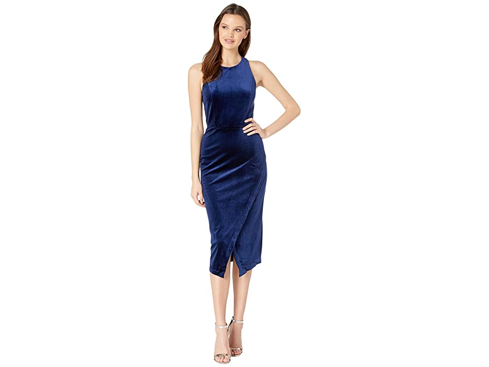 Yumi Kim Late Night Dress (Navy Velvet) Women