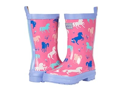 Hatley Kids Painted Pasture Shiny Rain Boots (Toddler/Little Kid) Girl
