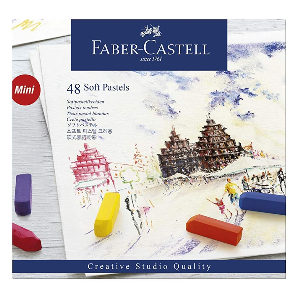 Faber-Castel FC128248 Creative Studio Soft Pastel Crayons (48 Pack), Assorted (3-Count(48 Pack))