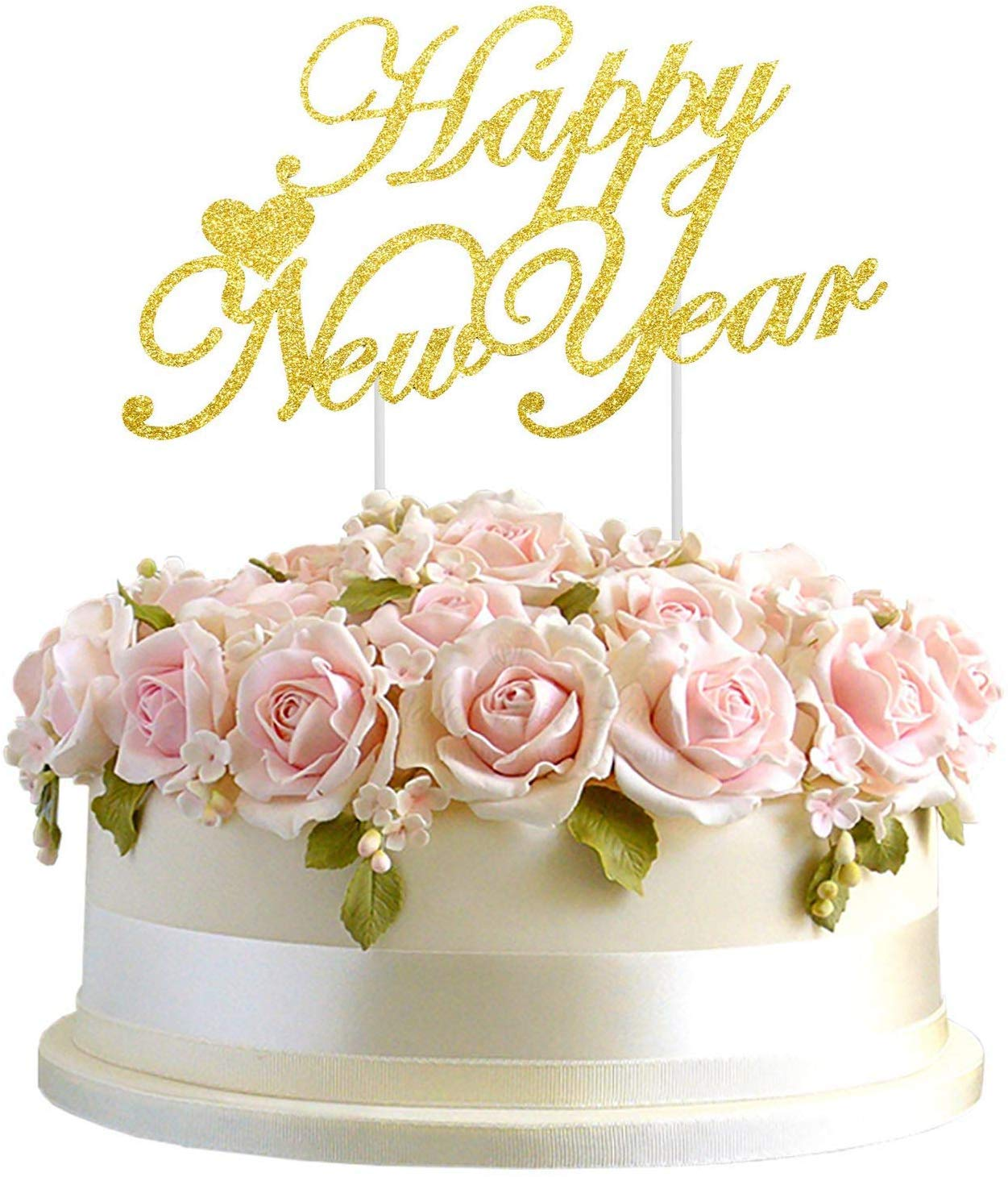 Holiday or Christmas Party Decorations Supplies 2021 New Year Party Decoration Rose Gold Merry Christmas Cake Toppers