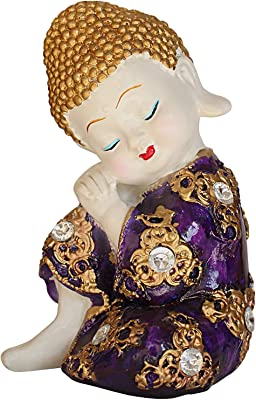 TIED RIBBONS Buddha Figurines Statue Showpiece for Gifting, Home, Living Room, Centre Table, Office Decoration