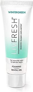 LIVFRESH Dental Gel by Livionex - Clinically Proven to Remove Plaque 250% Better (Foaming + Wintergreen + Blue Gel)
