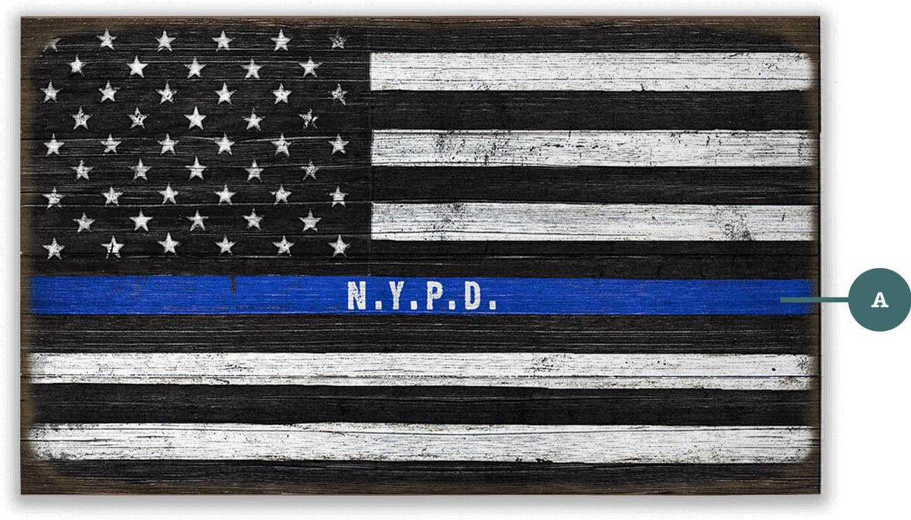 OldWoodSigns Boston Mall Personalized - Us Police Officers 18 Very popular! 30 Flag x inch