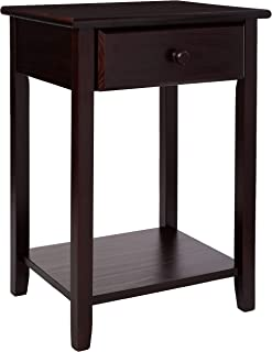 Casual Home 647-23 Night Owl Nightstand with USB Ports-Espresso