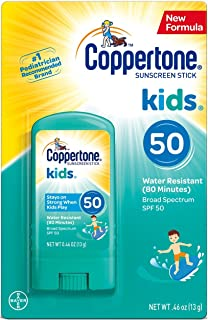 Coppertone Kids Sunscreen Stick Broad Spectrum SPF 50.46 Ounces Each (2)
