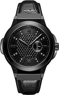JBW Mens Quartz Watch, Analog Display and Leather Strap J6373D