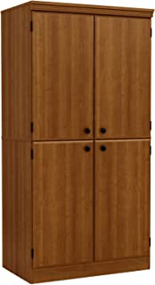 South Shore Tall 4-Door Storage Cabinet with Adjustable Shelves, Morgan Cherry