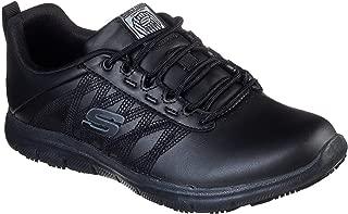 Skechers Work Relaxed Fit Ghenter - Follans SR Womens Slip Resistant Sneaker, Black, 11