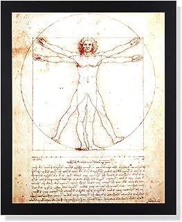 Davinci Code The Study of Man Picture Black Framed Art Print