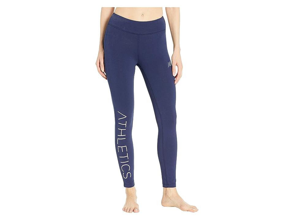 New Balance Athletics Leggings (Pigment/Pink Zing/Charm) Women