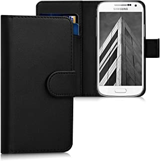 kwmobile Wallet Case for Samsung Galaxy S4 Mini - Protective PU Leather Flip Cover with Magnetic Closure, Card Slots and Kickstand