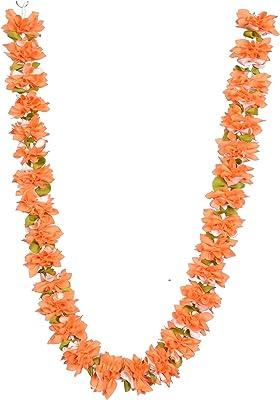 Daedal crafters Artificial Chintamani Flower Garland (Beige)