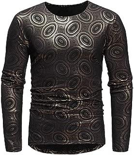 Mens Luxury African Print Long Sleeve Dashiki Shirt Sweartshirt Top Blouse
