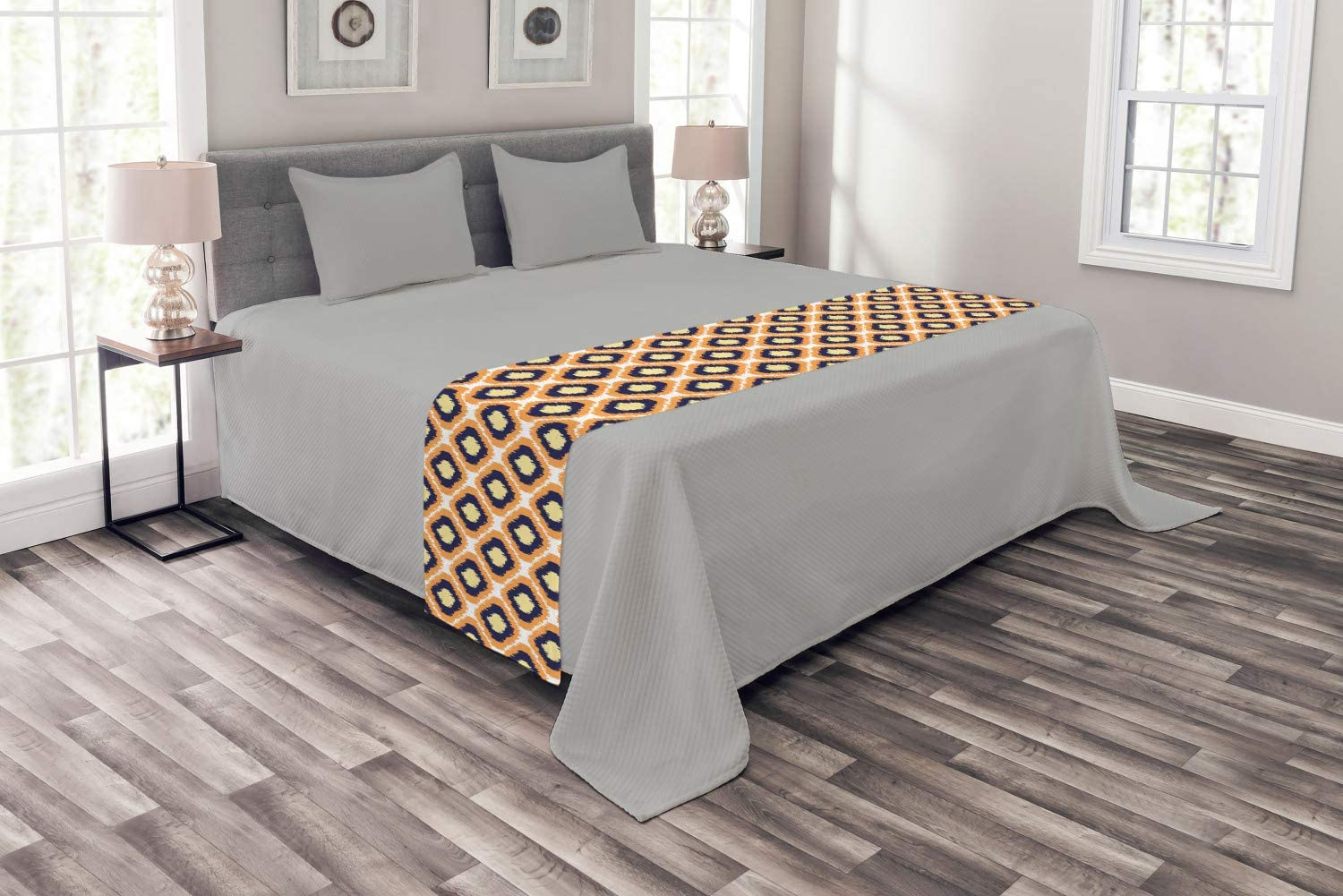 Max 42% OFF Ambesonne Ikat Ranking TOP17 Bed Runner Geometric Pattern Rho with Indonesian