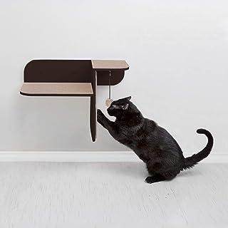 Primetime Petz Hauspanther Step Perch - Wall-Mounted Cat Perch & Scratcher, Espresso
