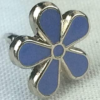 Forget-Me-Not Flower Alzheimer's Awareness Enamel Badge