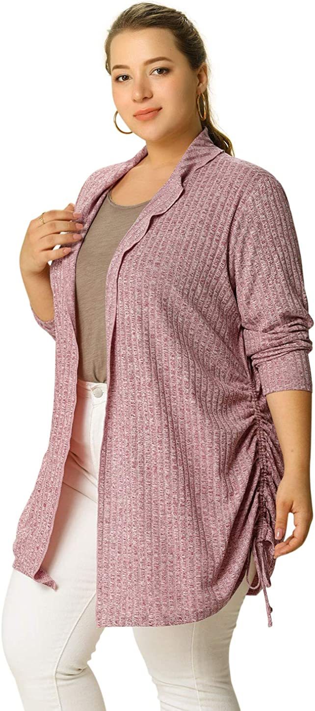 Agnes Orinda Women's Plus Size Cardigans Casual Knit Open Front Lightweight Cardigan Valentine's Day