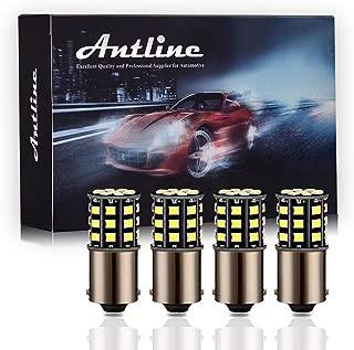 Antline 1156 1141 1003 7506 BA15S LED Bulbs White, 12-24V Super Bright 1000 Lumens Replacement for RV Camper Interior Lights, Backup Reverse Lights, Tail Brake Lights, Turn Signal Lights (Pack of 4)