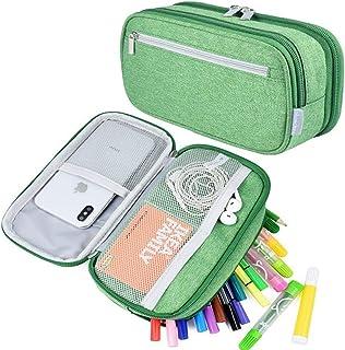 Haokaini Trousse à Crayons Grande Capacité Trousse à Crayons Toile 3 Compartiments Sac à Crayons Organisateur de Crayons