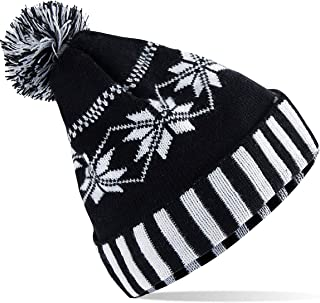 Winter Hats Adult Unisex Snowflake Hats Knitted Skull Beanie for Valentine's Day