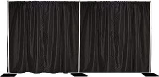 8'x20' Pipe and Drape Backdrop Kit in Premier Fabric (8'x20' Black)