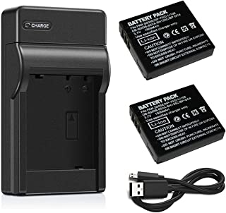 Replacement for Pentax X90 Battery and Charger Compatible with Pentax D-LI106 Digital Camera Batteries and Chargers 2150mAh 3.7V Lithium-Ion