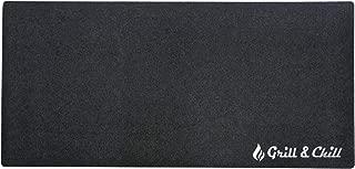 acerto 40531 Estera de protección del suelo Grill+Chill 90x180 cm - Antibacteriana - Impermeable - Antideslizante | Subsuelo ignífugo para la chimenea | Estera de goma de secado rápido universal