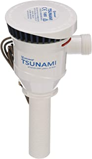Attwood 4650-7 Tsunami T800 Aerator Pump, 800 GPH, 12-Volt, 3 ½-Inch Long Inlet, Threaded ¾-Inch Diameter Outlet, 29-Inch Wire