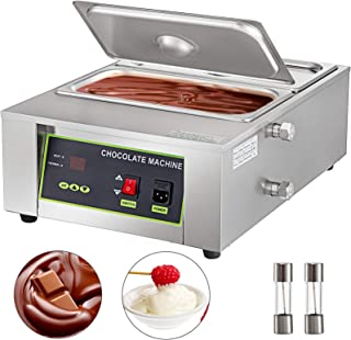 Happybuy Electric Chocolate Melting Pot Machine 2Tanks Commercial Electric Chocolate Heater 1000W Digital Control Two Pan ...