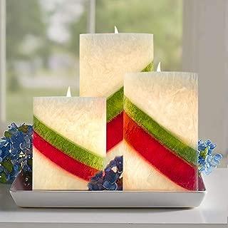 AMAGIC Striped Wax Flameless Candles (H4
