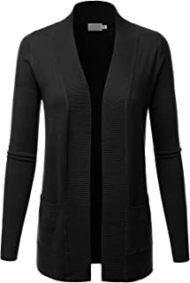 Women's Open Front Pockets Knit Long Sleeve Sweater...