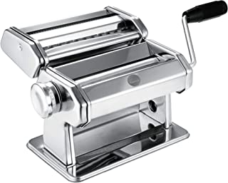 Hello Cucina Pasta Maker, Heavy Duty Dough Flattener Machine, Roller Cutter with Clamp & Hand Crank, 9 Adjustable Thickness Stainless Steel Rolling Press for Fettuccine, Ravioli, Spaghetti & More
