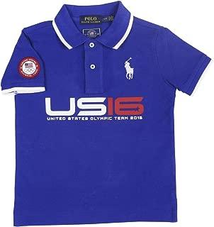 Ralph Lauren Boys' Team USA Cotton Mesh Polo