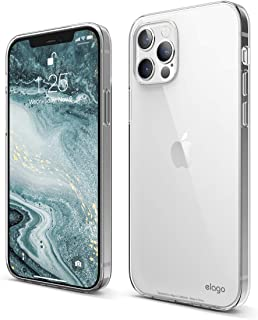 elago Clear Case Kompatibel mit iPhone 12 Hülle und Kompatibel mit iPhone 12 Pro Hülle (6,1'), Durchsichtig Handyhülle Dünn Weich TPU, Display & Kamera Schutz, Stoßfeste Schutzhülle (Transparent)